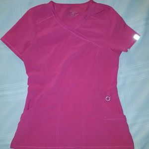 Infinity by Cherokee Scrub Top In Hot Pink size Sm
